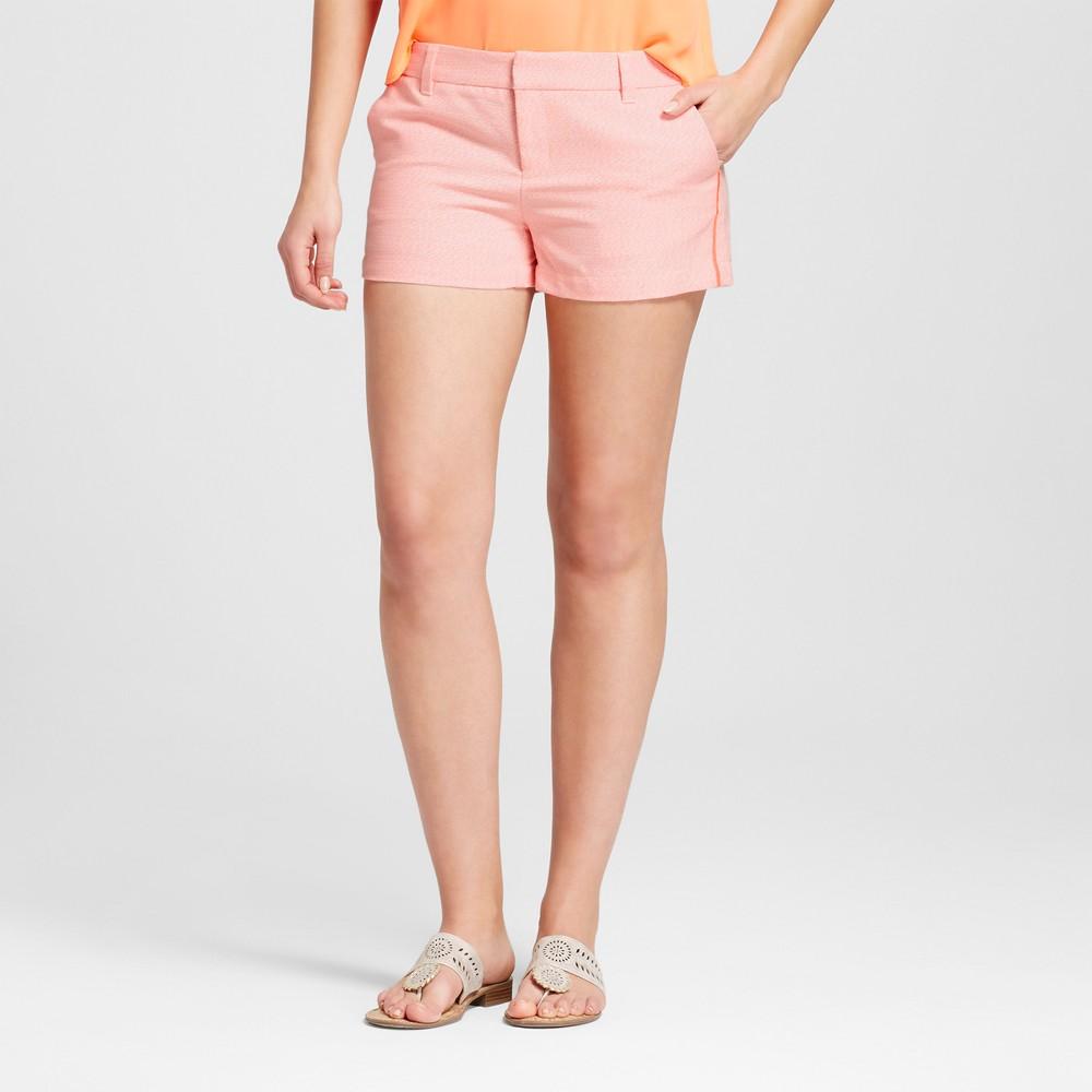 Womens 3 Neon Texture Chino Shorts - Merona Neon Orange 14