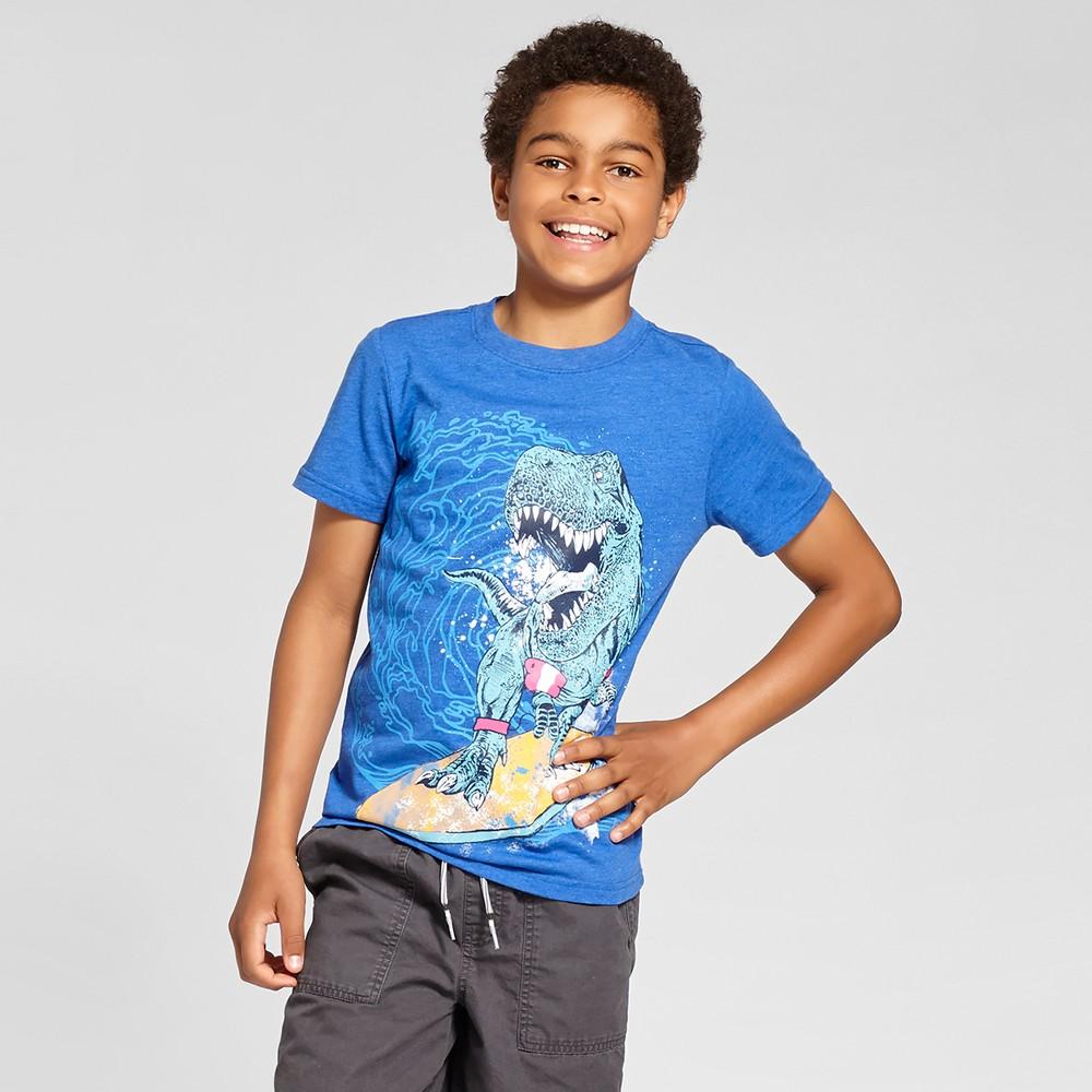 Boys' T-Shirt Dinosaur - Cat & Jack Bright Blue L