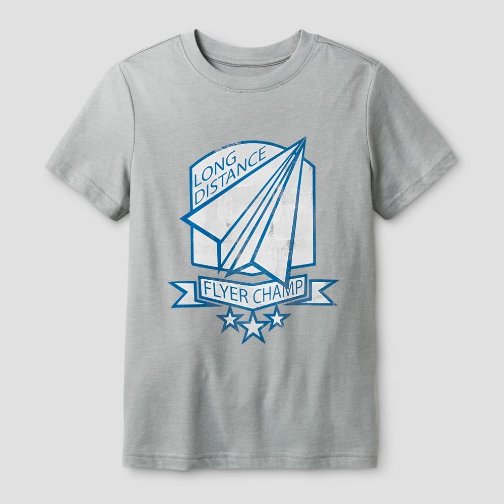 Boys' T-Shirt Flyer Champ - Cat & Jack Gray Birch S