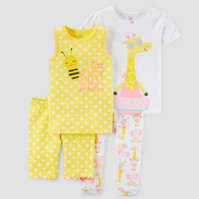 Toddler Girls' Pajama Set - Just One You™ Made by Carter's® Yellow 4T