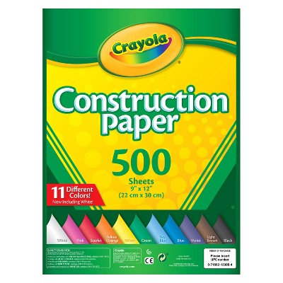 Crayola® Construction Paper 9  x 12  500ct