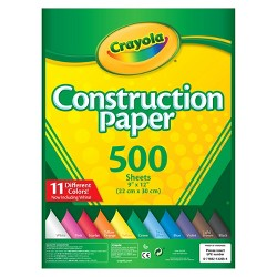 "Crayola® Construction Paper 9"" x 12"" 500ct"