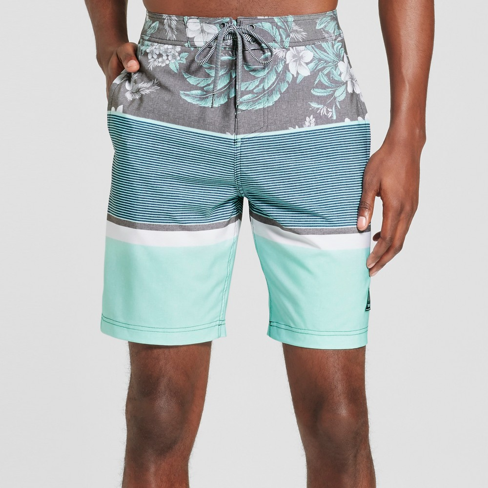 Mens Stoked Board Shorts - Trinity Collective Blue 32