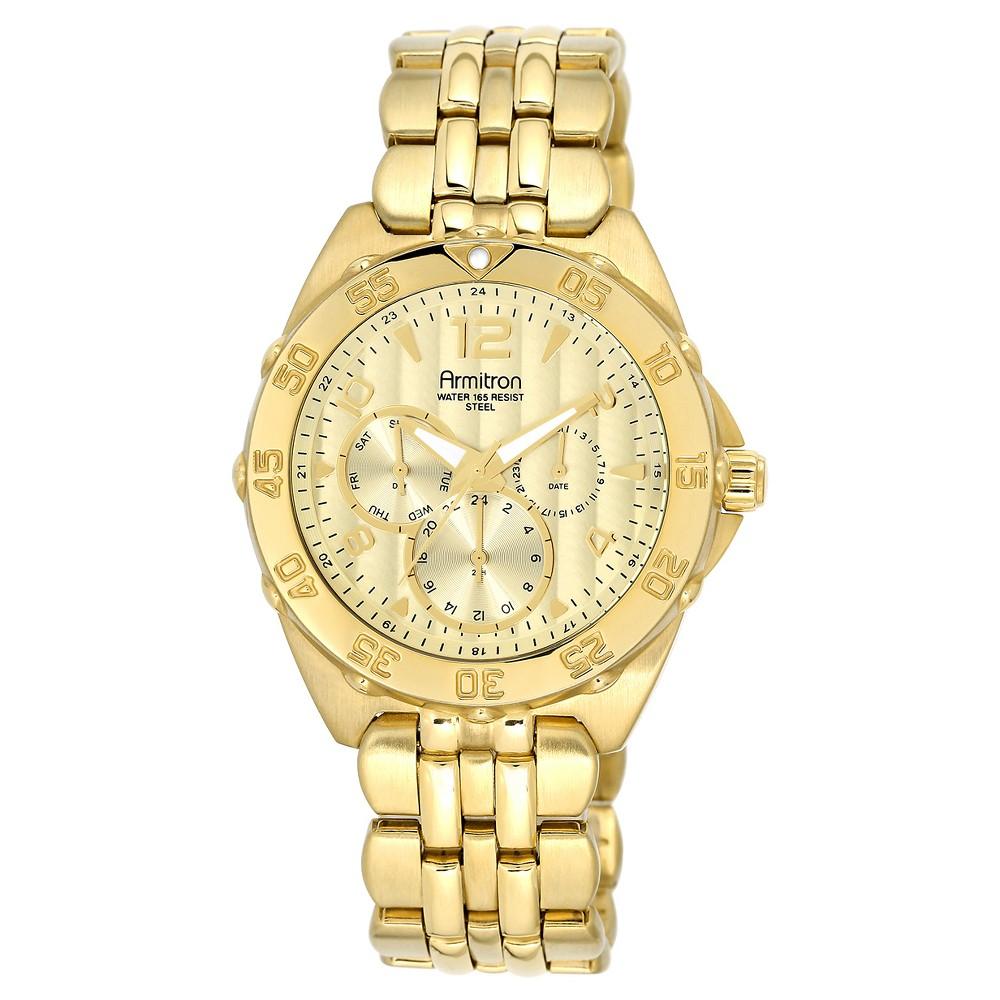 Armitron Mens Multi-Function Bracelet Watch - Gold, Size: Large