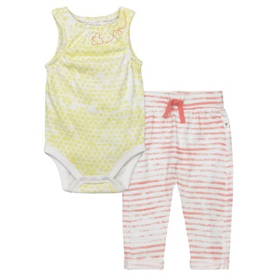Baby Girls' Organic Honeycomb Bodysuit and Pants Set Duckling 6-9 M - Burt's Bees Baby®