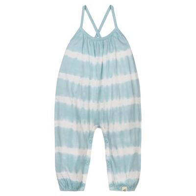 Baby Girls' Organic Tie Dye Stripe Romper Geyser 6-9 M - Burt's Bees Baby®