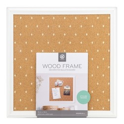 Ubrands® Cork Bulletin Board White Frame with Diamonds