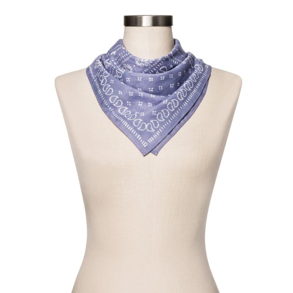 Womens Floral Handkerchief - Merona Blue One Size