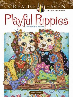Creative Haven Playful Puppies Coloring Book (Paperback) (Marjorie Sarnat)