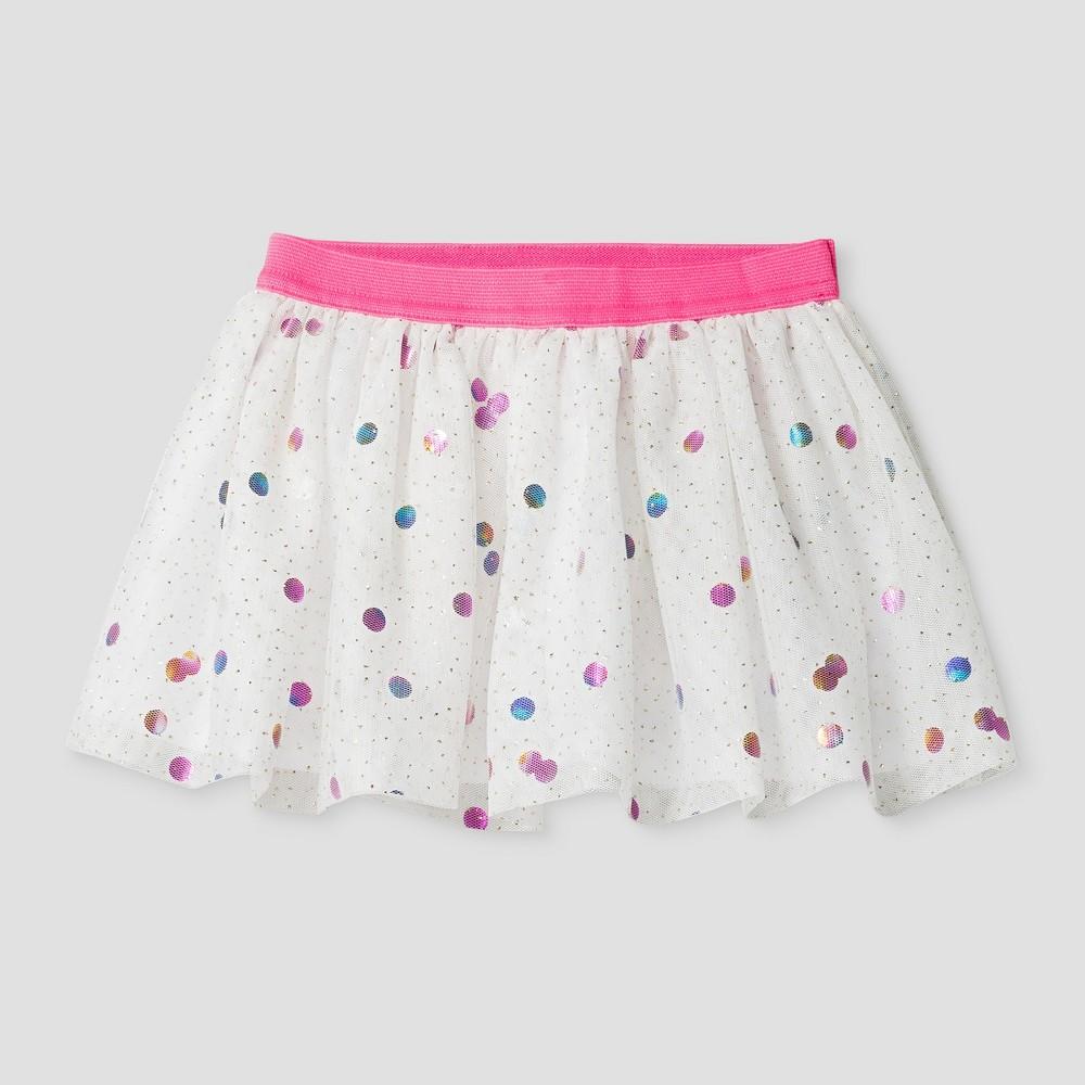 Toddler Girls Bubble Tutu Skirt - Cat & Jack White 18M, Size: 18 M