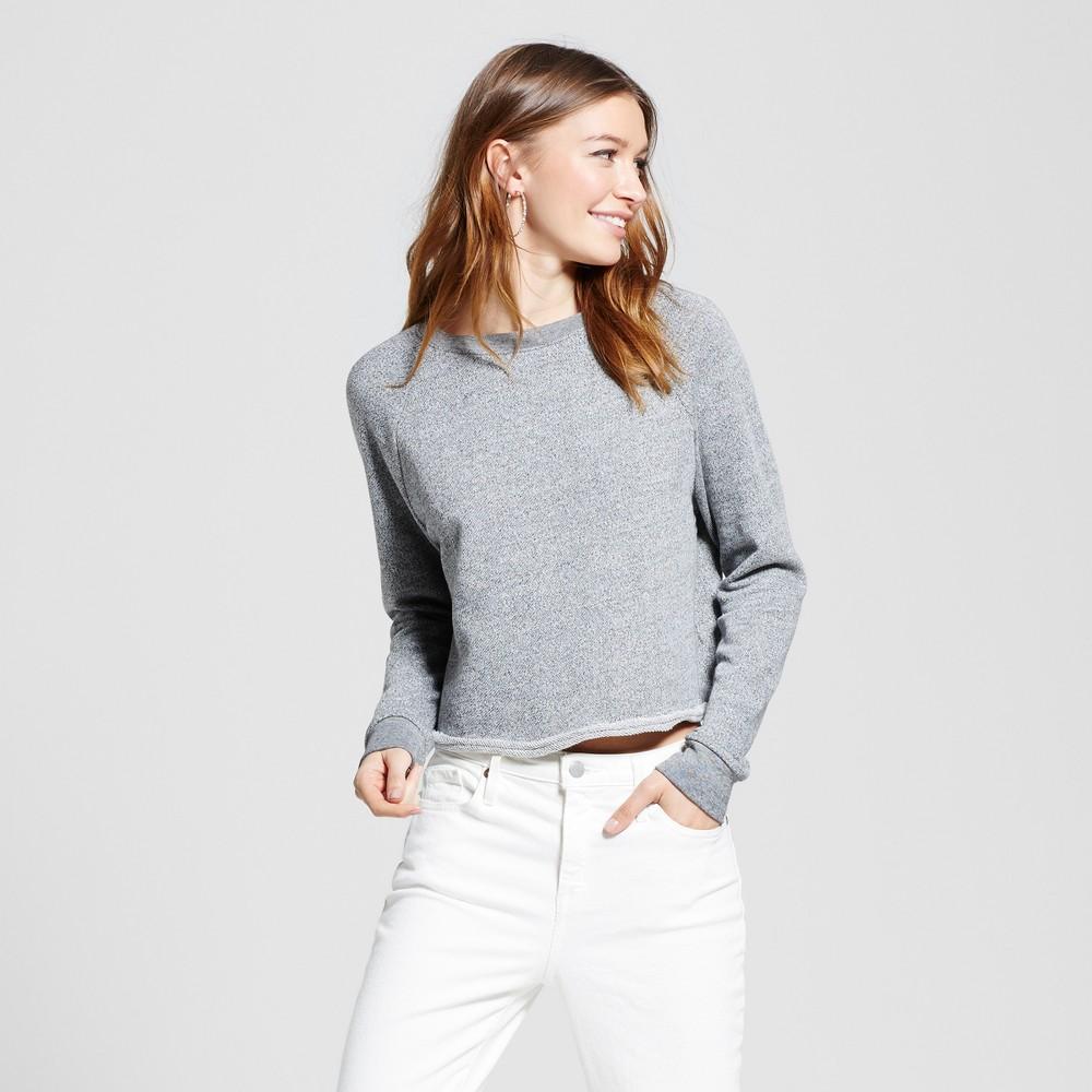 Womens Cropped Crew Sweatshirt - Mossimo Supply Co. Heather Gray XL