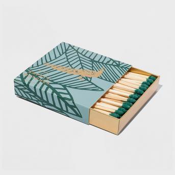 Peacock Print Matchbox