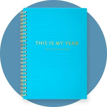 Lined Journal Light Blue 8.5
