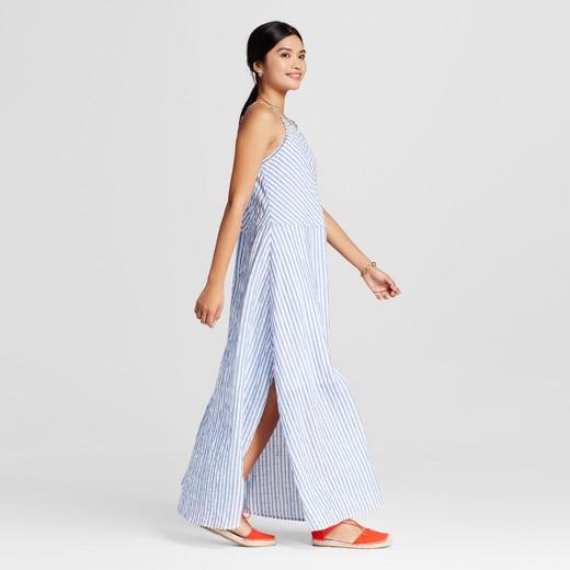 Women's Striped Halter Maxi Dress - Merona™ Blue/White S : Target