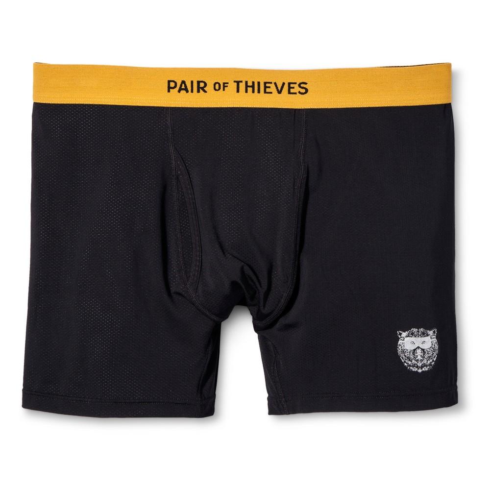 Men's Pair of Thieves Super Fit Black Boxer 1pk Brief L – Underwear, Size: Small