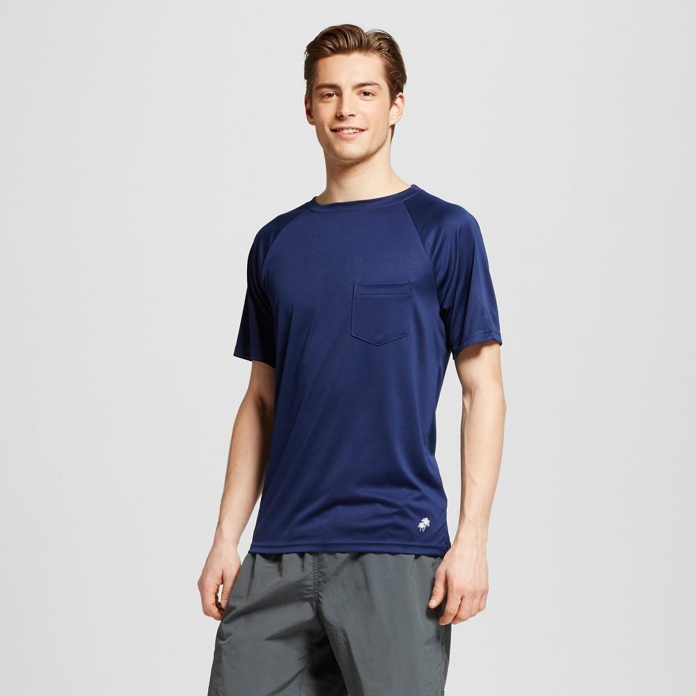 Mens Short Sleeve Pocket Swim Tee Navy (Blue) M - Trunks Surf & Swim