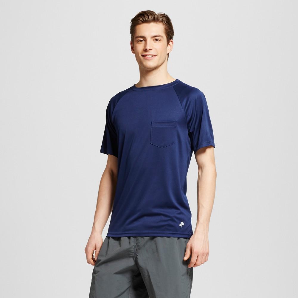 Mens Short Sleeve Pocket Swim Tee Navy (Blue) XL - Trunks Surf & Swim