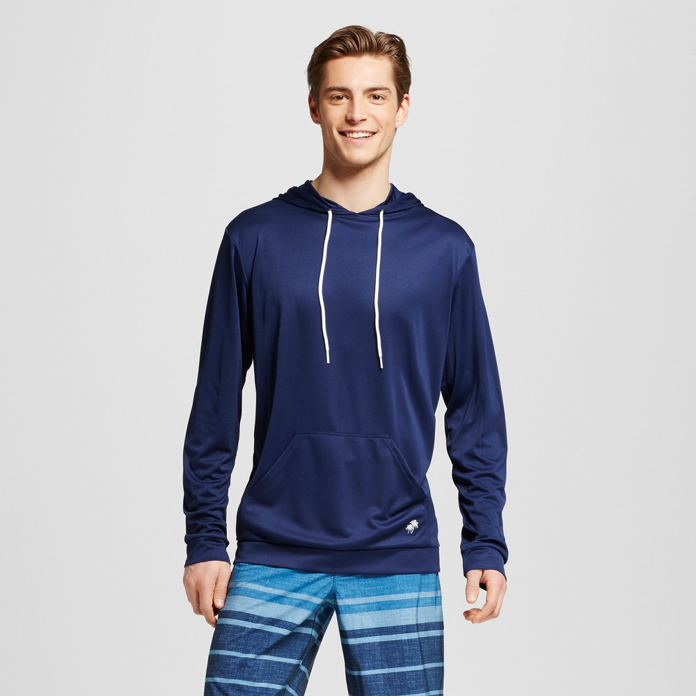 Mens Pullover Swim Hoodie Navy (Blue) S - Trunks Surf & Swim