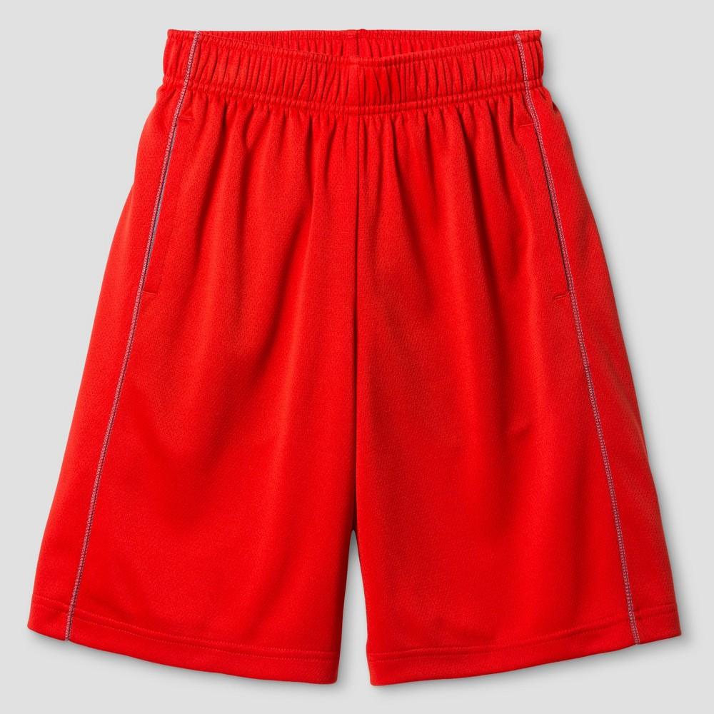 Husky Boys' Activewear Shorts - Cat & Jack Orange Spark LH, Size: 14 Husky