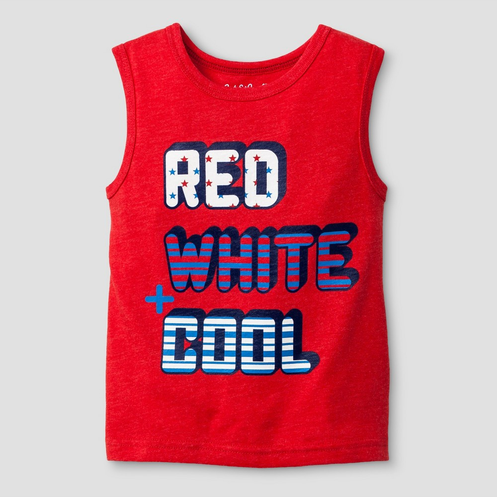 Toddler Boys' Tank Top Cat & Jack Really Red 18M, Size: 18 M