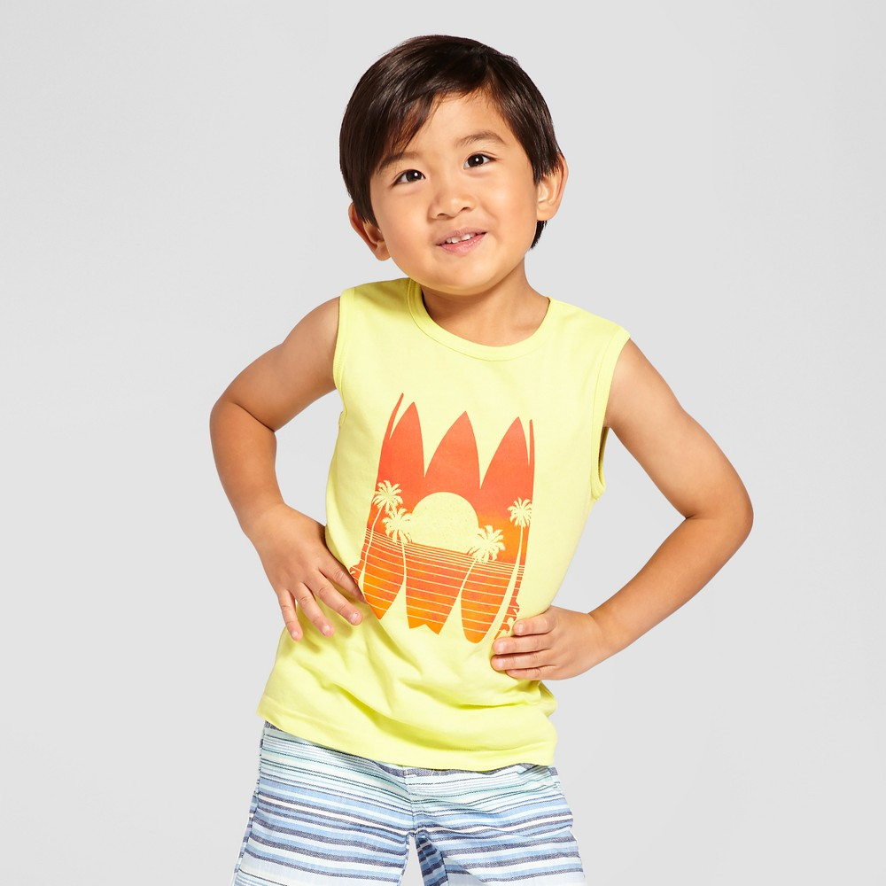 Toddler Boys Tank Top Snap Dragon Yellow 5T - Cat & Jack