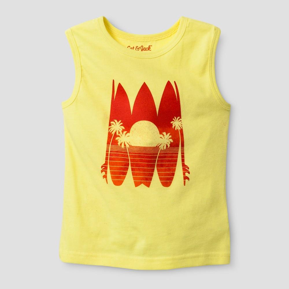 Toddler Boys Tank Top Snap Dragon Yellow 12M - Cat & Jack, Size: 12 M