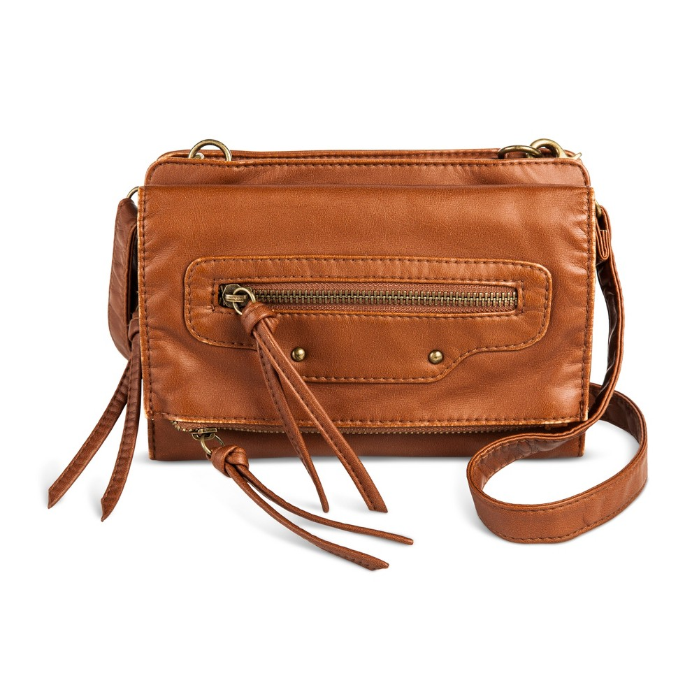 Womens Crossbody Handbag - Mossimo Supply Co. Cognac (Red)