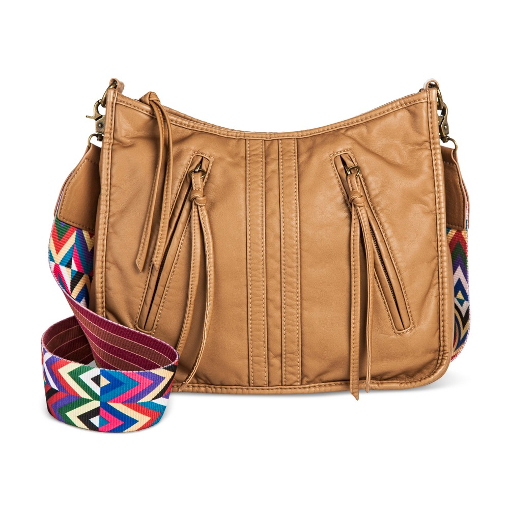 Womens Crossbody Hobo Handbag with Guitar Strap - Mossimo Supply Co. Light Brown
