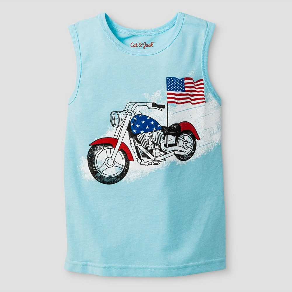 Toddler Boys Tank Top Cat & Jack Turquoise Glass 3T, Blue
