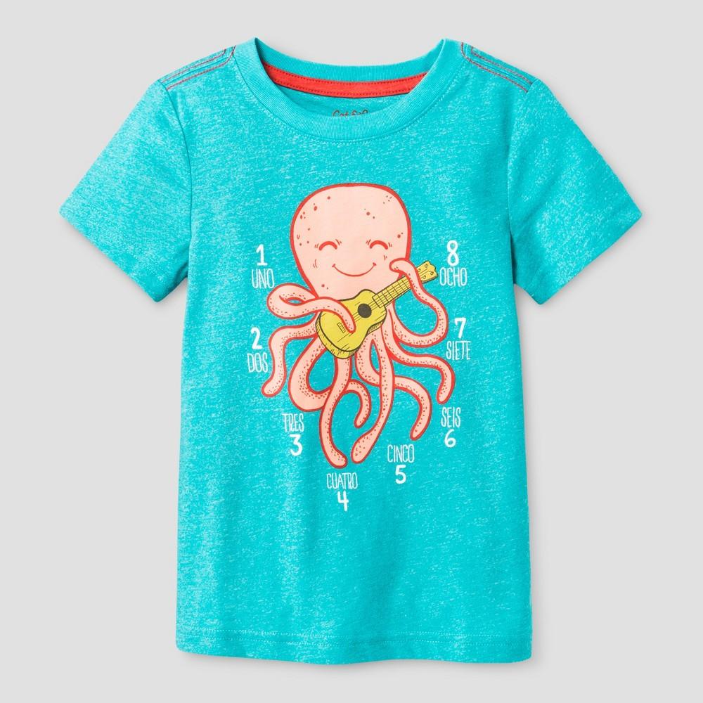 Toddler Boys T-Shirt - Cat & Jack Tableaux Turquoise 18M, Size: 18 M, Blue