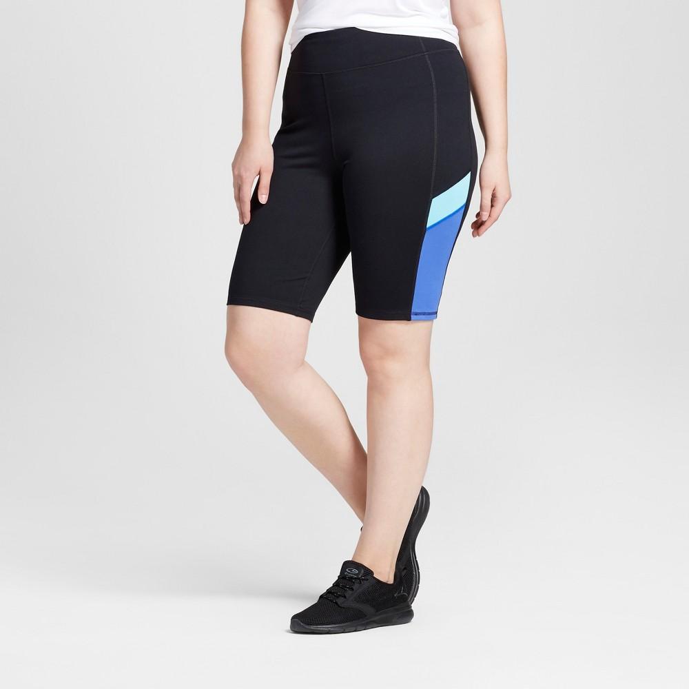Womens Plus-Size Freedom Bermuda 11 Shorts - C9 Champion - Black/Steel Blue 1X, Black/Blue