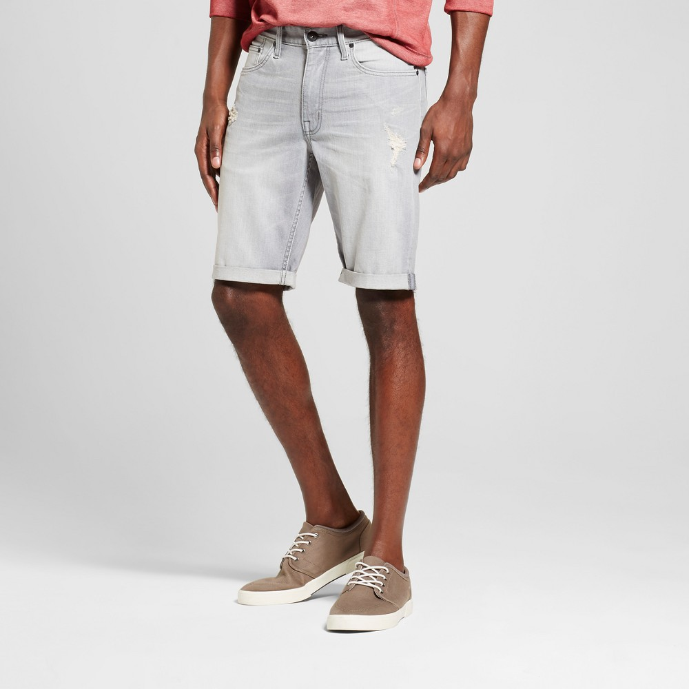 Mens Slim Fit Denim Shorts - Mossimo Supply Co. Gray Wash 34