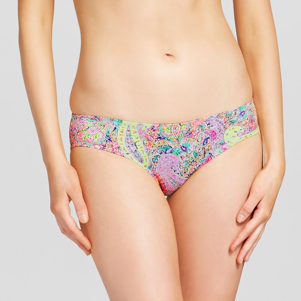 Womens Beach Hipster Bikini Bottom - Shade & Shore Coral Paisley XS, Pink