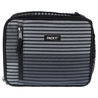 PackIt Freezable Classic Lunch Box - Gray Stripe