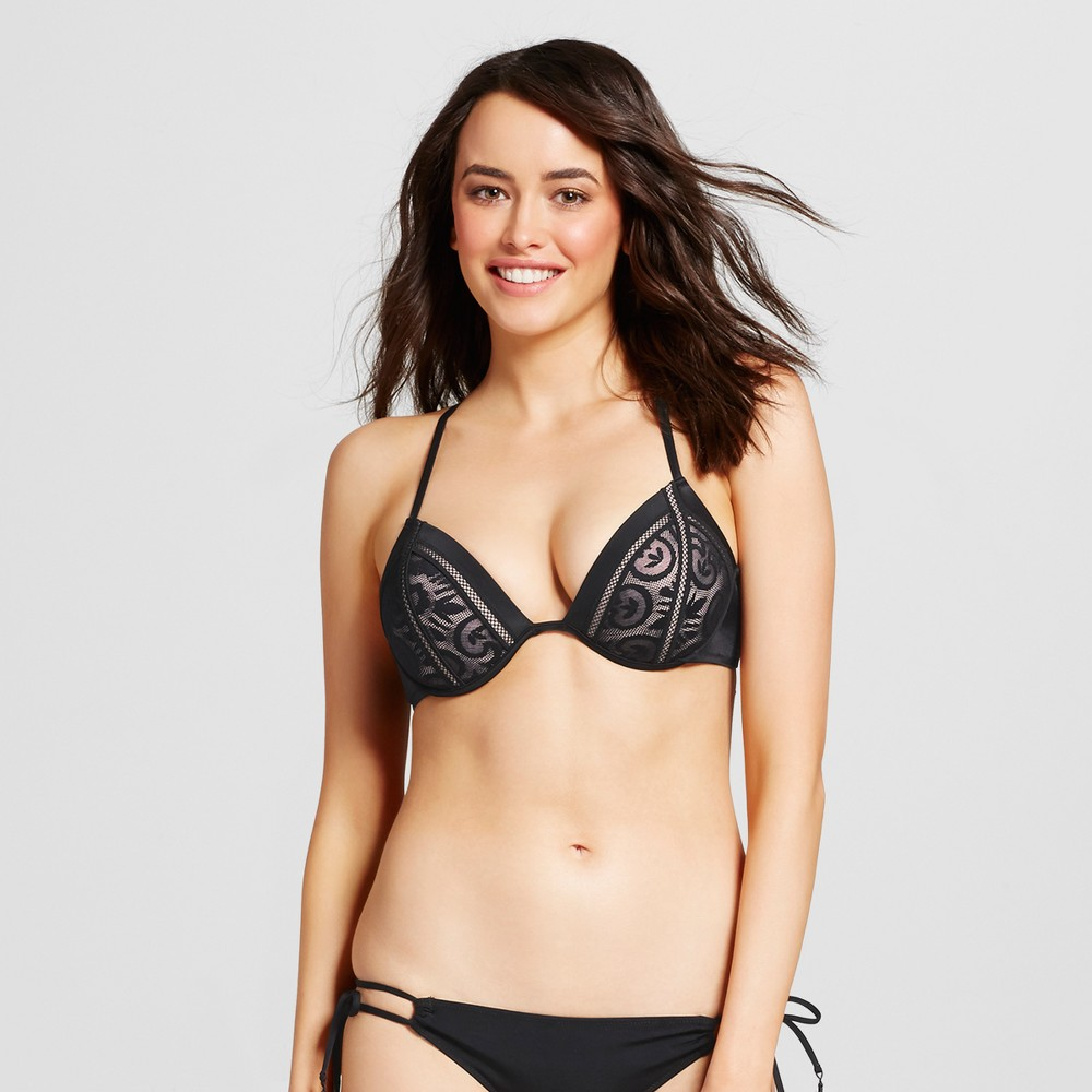 Womens Shore Lace Bikini Top - Shade & Shore Black 34D