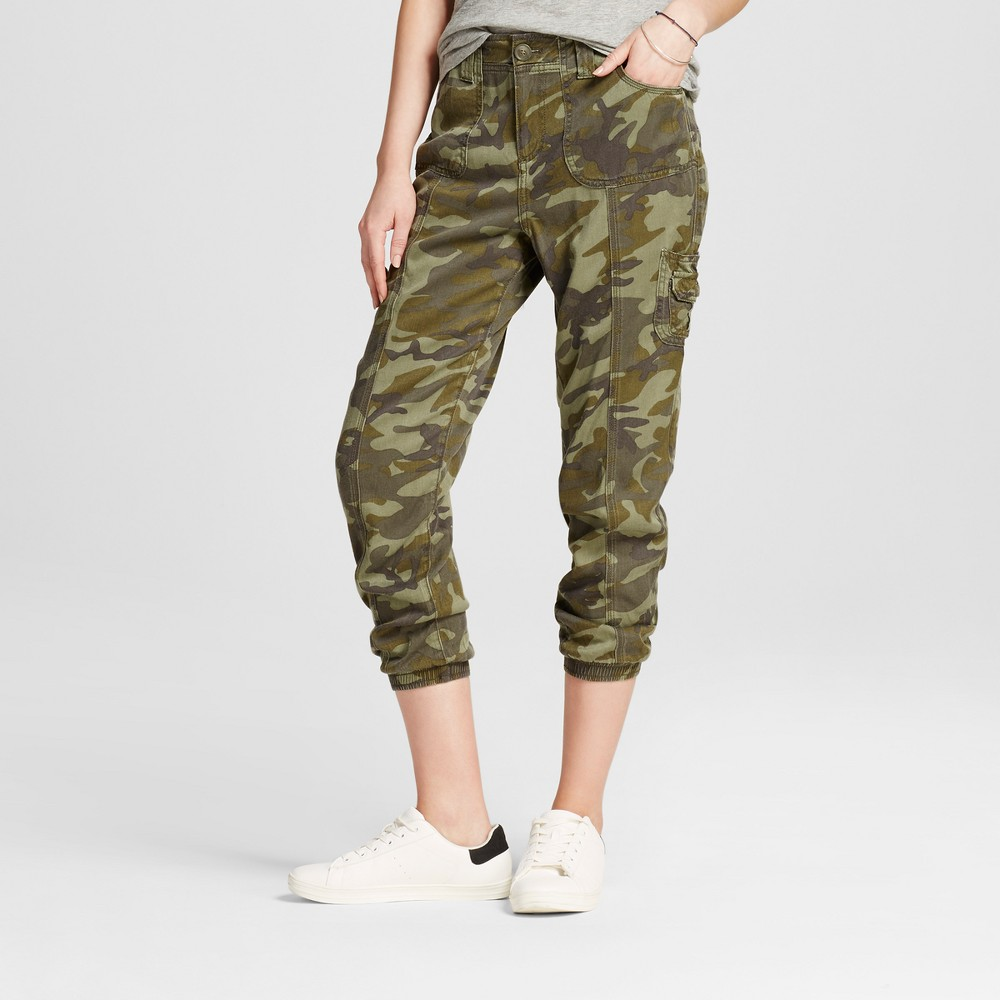 Womens Camo Cropped Cargo Jogger - Knox Rose Camo Print XS, Green