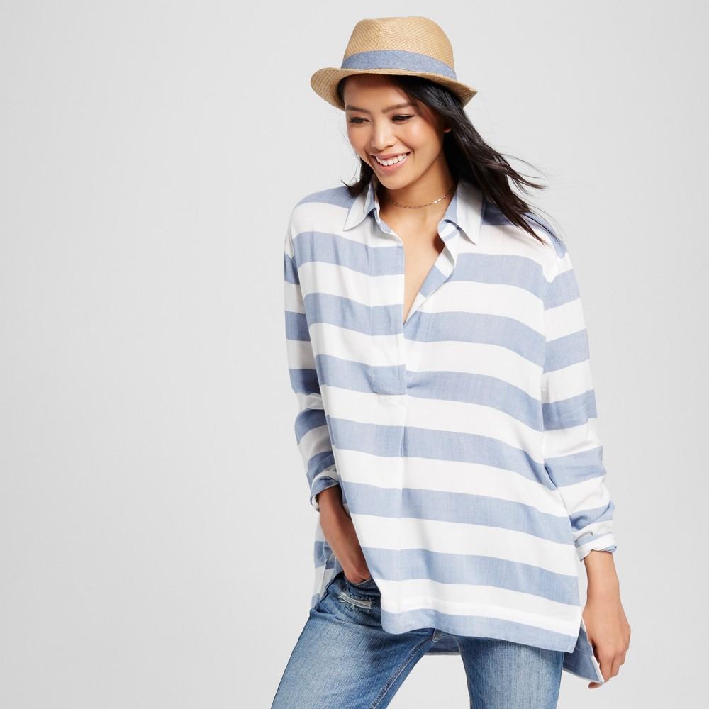 Women's Oversized Stripe Shirt Blue Stripe M – K by Kersh