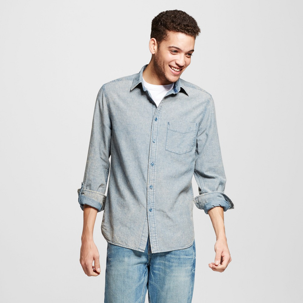 Mens Button Down Shirt - Mossimo Supply Co. Lite Chambray S