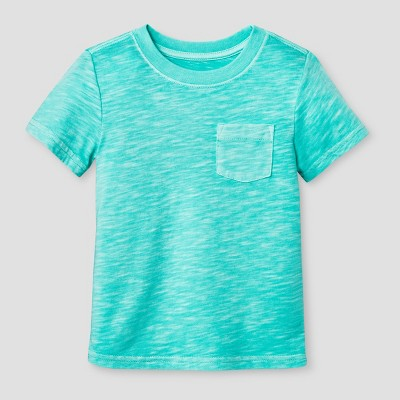 Toddler Boys' Pocket T-Shirt Cat & Jack™ - Sea Green 18M