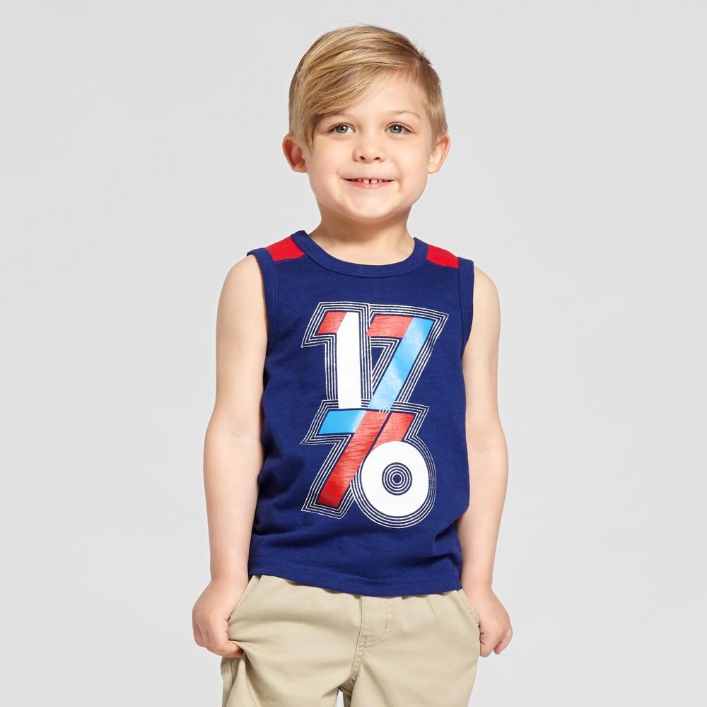 Toddler Boys Tank Top Cat & Jack Oxford Blue 5T