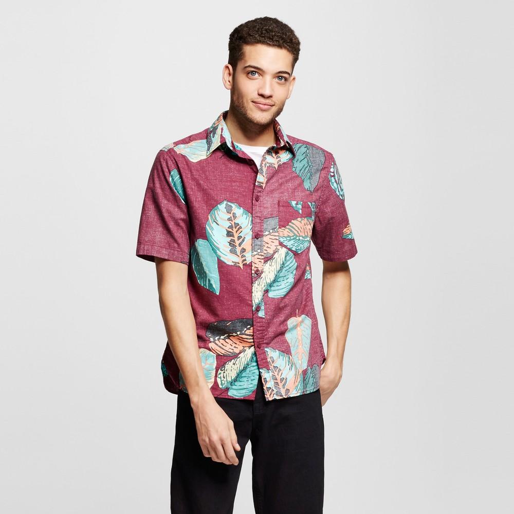 Mens Short Sleeve Button Down Shirt - Mossimo Supply Co. Tropical Leaf Print Xxl