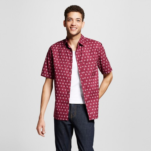 Men's Short Sleeve Button Down Shirt Printed - Mossimo Supply Co ...