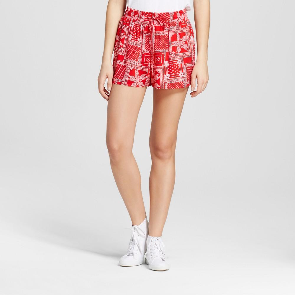 Womens Feminine Soft Shorts - Mossimo Supply Co. Red Print XS