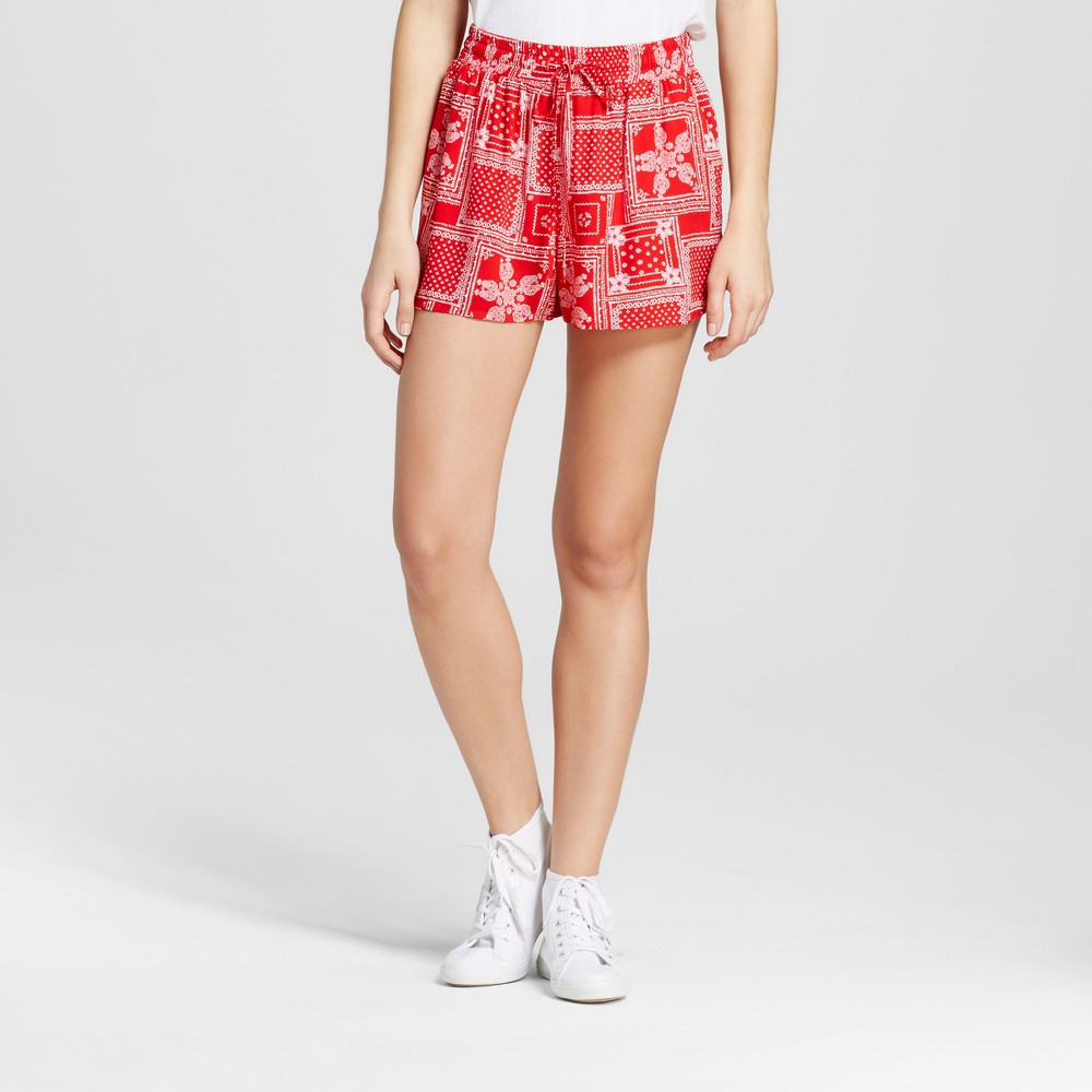 Womens Feminine Soft Shorts - Mossimo Supply Co. Red Print XL
