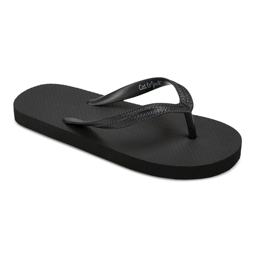 Boys Pablo Flip Flop Sandals - Cat & Jack Black L