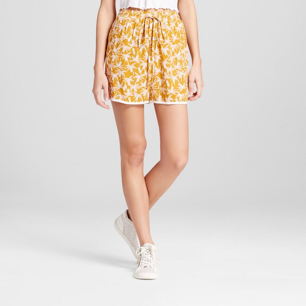 Womens Feminine Soft Shorts - Mossimo Supply Co. Gold Print XS