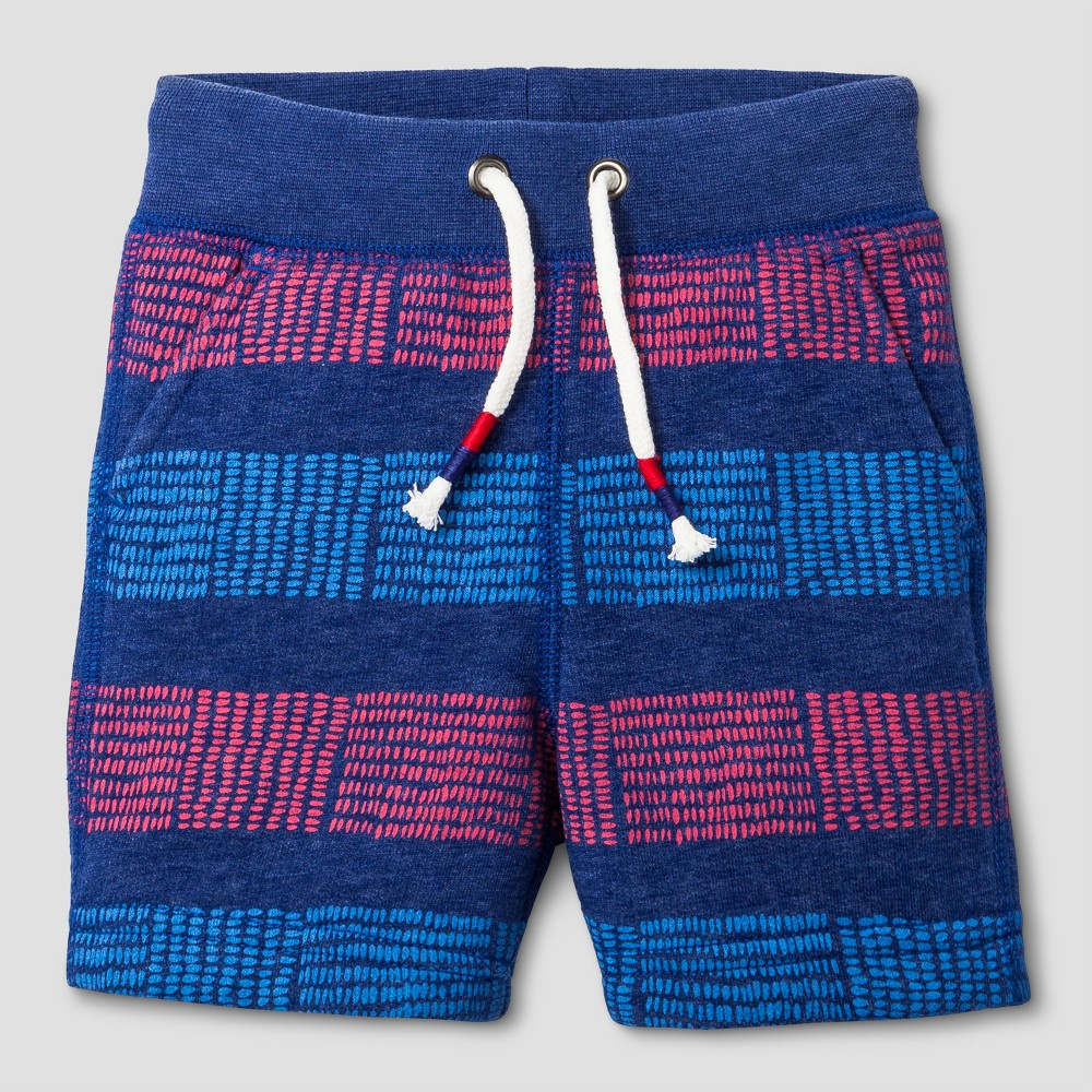 Toddler Boys Striped Knit Shorts Cat & Jack Really Red 12M, Size: 12 Months