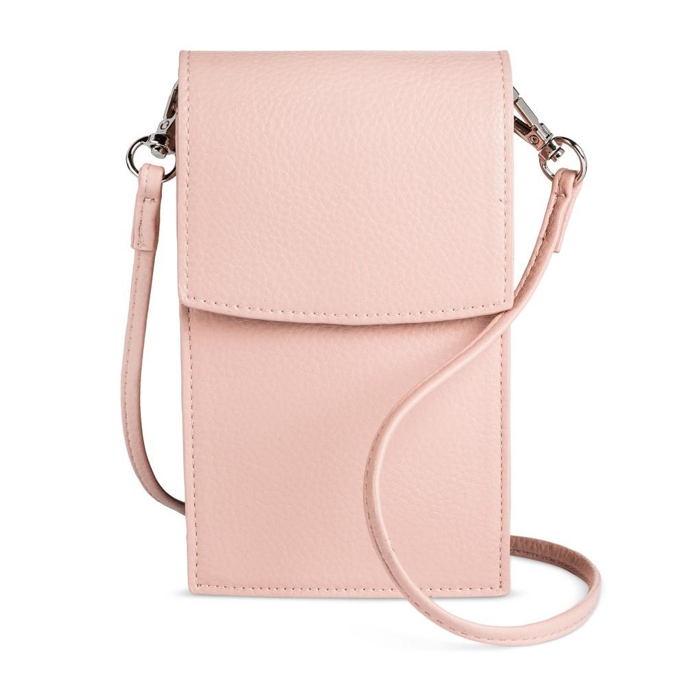 Womens Cellphone Crossbody Handbag - Mossimo Supply Co. Blush, Size: Small