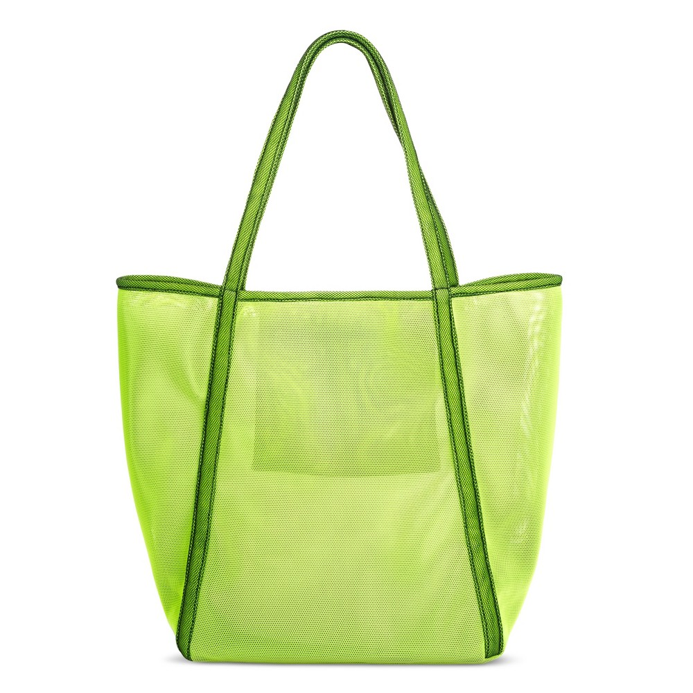 Womens Oversized Mesh Tote Handbag - Mossimo Supply Co. m- Lime Green