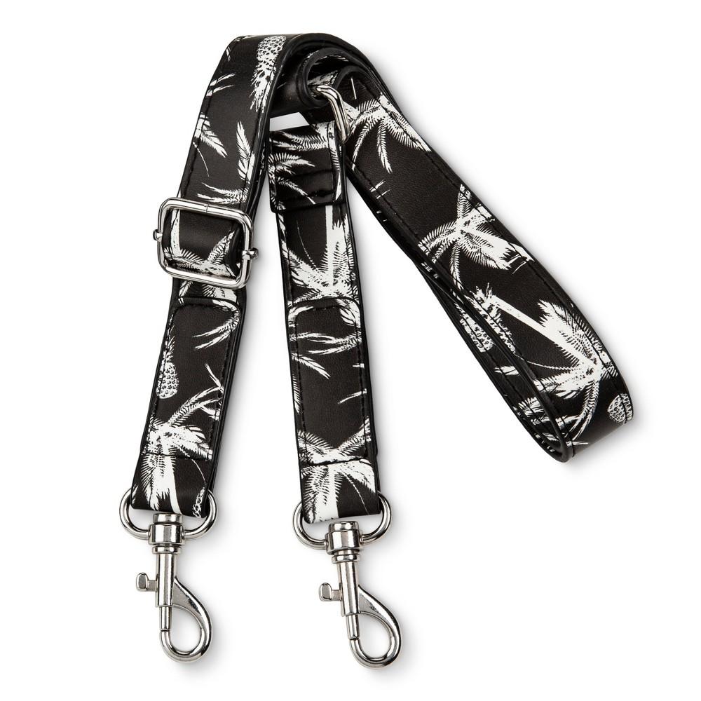 Womens Palm Print Handbag Strap - Mossimo Supply Co. Black/White